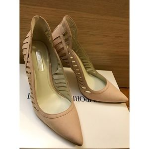 BCBGeneration Nude Detailed Pointed Toe Heels